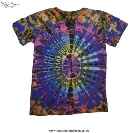 Multicoloured Cotton Tie Dye Hippy Festival T-Shirt
