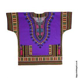 Purple-Short-Sleeve-Dashiki-Shirt