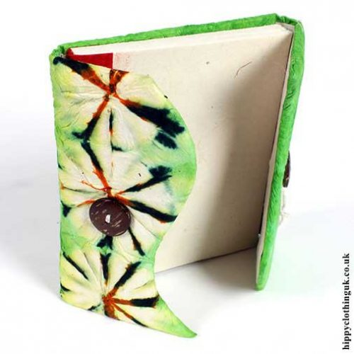 Tie-Dye-Lokta-Notebook---Open-example