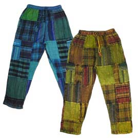 Cotton Patchwork Hippy Trousers
