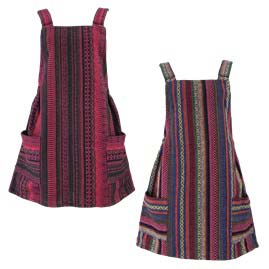 Dungaree Style Cotton Weave Dress