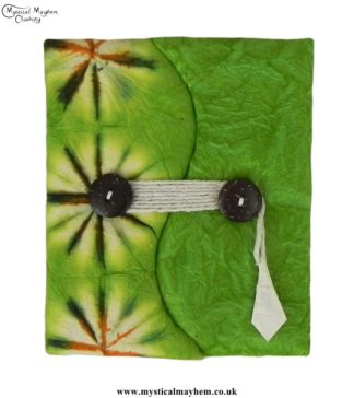 Green-Tie-Dyed-Lokta-Paper-Notebook