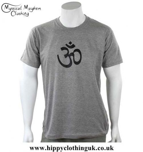 Grey-Cotton-T-Shirt-with-Printed-OM-Design