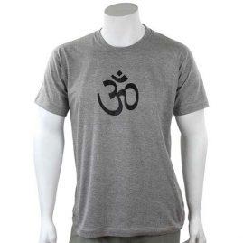 Grey-Om-T-Shirt