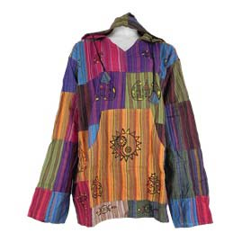 Gringo Patchwork Hooded Shirts