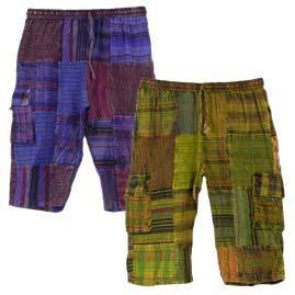Long Cotton Patchwork Festival Shorts
