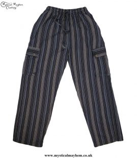 Striped-Cotton-Nepalese-Hippy-Festival-Trousers-Black-&-Yellow