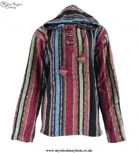 Thick-Weave-Brushed-Cotton-Hippy-Pullover-Jacket-Colour-Mix