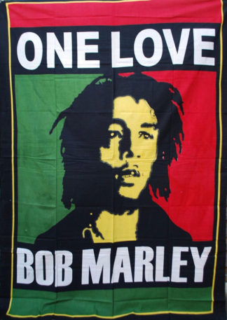 Bob-Marley-One-Love-Throw,-Bed-Spread,-Wall-Hanging