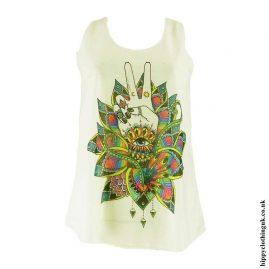 Cream-Lotus-Flower-Hippy-Vest-Top