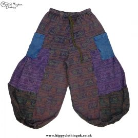 Multicoloured-Hippy-Festival-Patchwork-Om-Trousers
