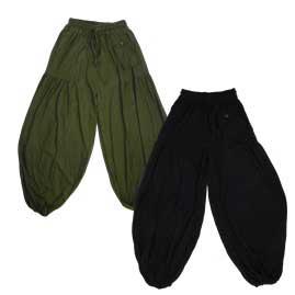 Plain Baggy Hippy Trousers