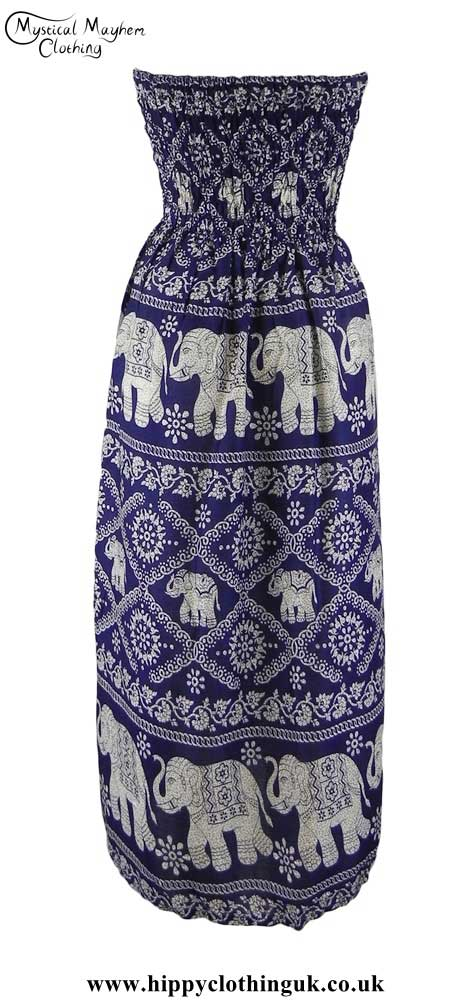 Elephant-Print-Rayon-Maxi-Dress-=