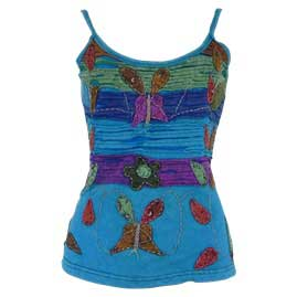 Embroidery Butterfly Vest Tops