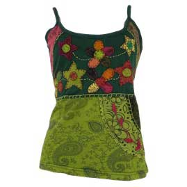Embroidery Flower Vest Tops