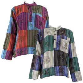 Gringo Cotton Patchwork Hippy Festival Grandad Shirts