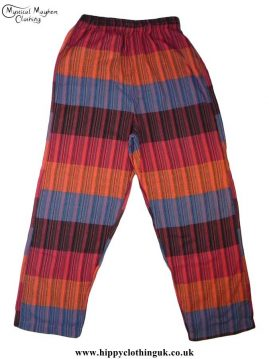 Hippy-Nepalese-Cotton-Striped-Trousers---Multicoloured