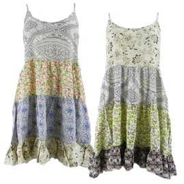 Tiered Patterned Hippy Festival Dresses