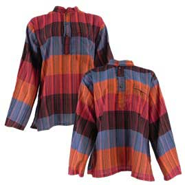 Nepalese Striped Grandad Shirts