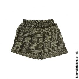 Thai-Ladies-Hippy-Rayon-Shorts-Green-1