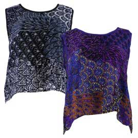 Thai Patterned Open Back Hippy Tops
