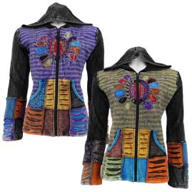 Colourful Embroidery Sun Jackets