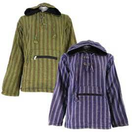 Cotton Fleece Lined Pixie Hooded Jacket