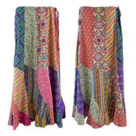 Cotton Patchwork Panel Skirt