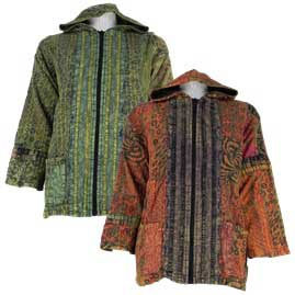 Gringo Cotton Peace Patchwork Jacket with Cotton Lining
