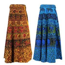 Long Cotton Throw Wrap Skirts