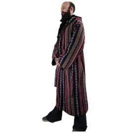 Male Long Hippy Coat, Jacket, Jedi Cloak