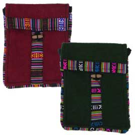 Passport Bag with Tibetan Style Trim