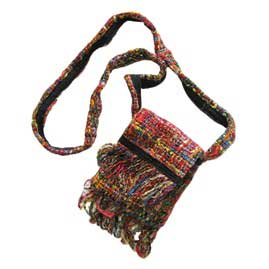 Recycled Silk Passport Shoulder Bags