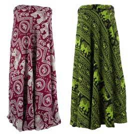 Thai Hippy Elephant Long Wrap Skirts