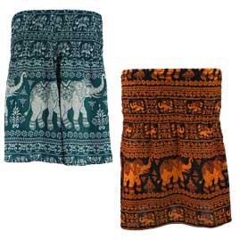 Thai Hippy Elephant Mini Skirts