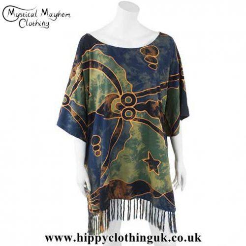 Abstract-Design-Short-Rayon-Batik-Kaftan-with-Tassels
