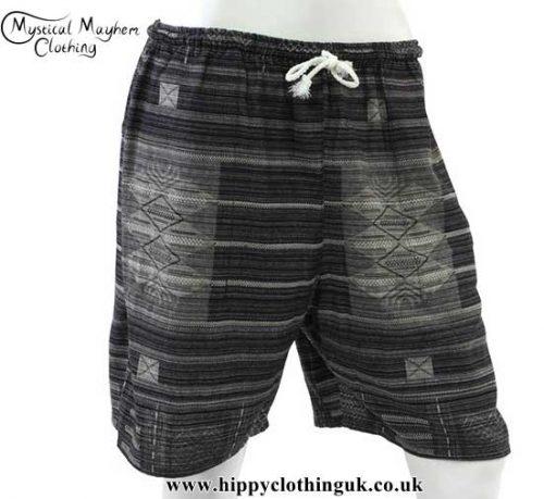 Black-Long-Cotton-Hippy-Shorts