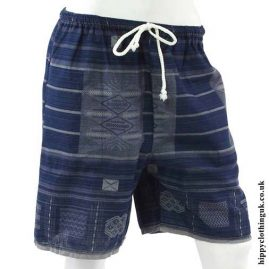 Dark-Blue-Long-Cotton-Hippy-Shorts