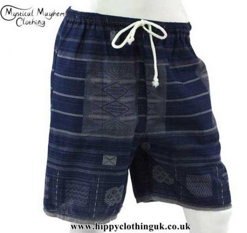 Dark-Blue-Long-Cotton-Hippy-Shorts