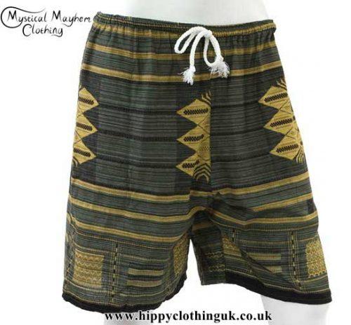 Green-Long-Cotton-Hippy-Shorts