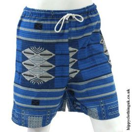 Light-Blue-Long-Cotton-Hippy-Shorts