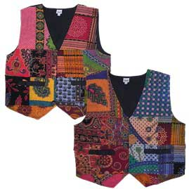 Multicoloured Patchwork Waistcoat