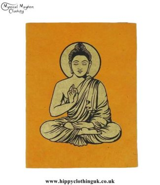 Orange-Lokta-Paper-Buddha-Notebook