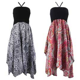 Pixie Hem Halterneck Dresses
