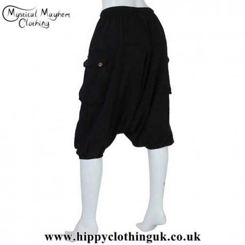 Plain-Black-Ali-Baba-Shorts--Back