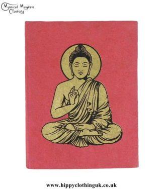 Red-Lokta-Paper-Buddha-Notebook