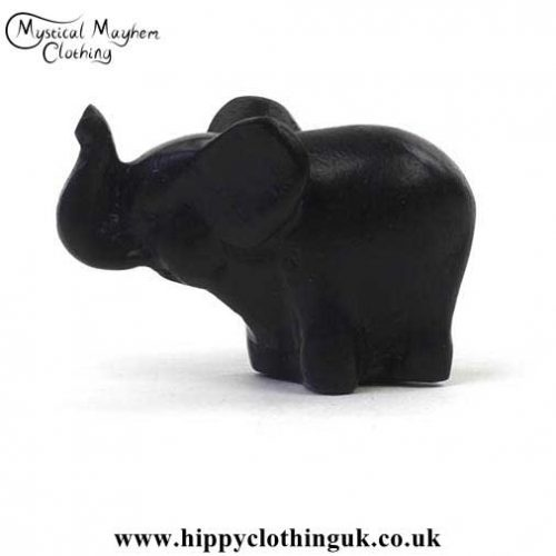 Small-Resin-Elephant-Good-Luck-Pocket-Charm---Side-View