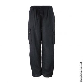 Charcoal-Plain-Cotton-Nepalese-Hippy-Trousers