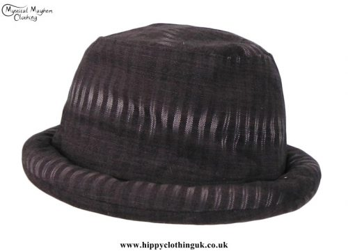 Dark-Brown-Thai-Cotton-Hippy-Rimmed-Hat