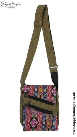 Green-Passport-Bag-with-Multicoloured-Patterns